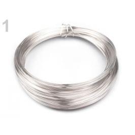 Drôt do hornej časti rúšok Ø0,5 mm strieborná sv. 1ks