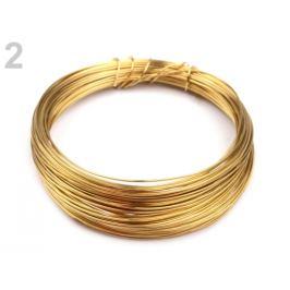 Drôt do hornej časti rúšok Ø0,5 mm zlatá 1ks