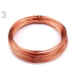 Drôt do hornej časti rúšok Ø0,5 mm medená 1ks