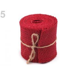 Jutová stuha prírodná šírka 60 mm červená  1ks Stoklasa