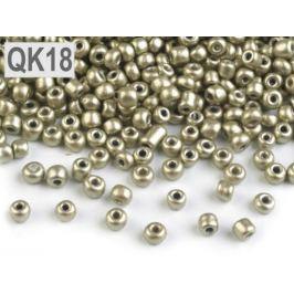 Rokajl 8/0 - 3 mm metalický, nepriehľadný zlatá svetlá 50g Stoklasa
