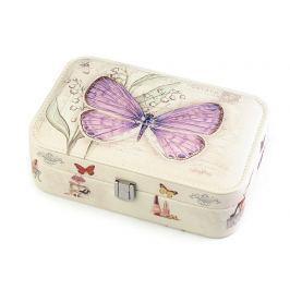 Šperkovnica motýľ 7x14x22 cm fialová lila 1ks Stoklasa
