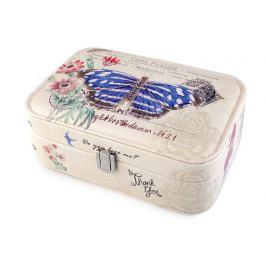 Šperkovnica motýľ 7x14x22 cm modrá safírová 1ks Stoklasa