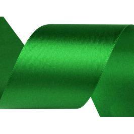 Atlasová stuha šírka 40 mm zelené papradie 22.5m Stoklasa