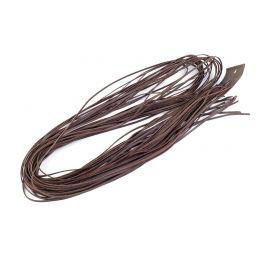 Kožený remienok šírka 2 mm, 120 cm hnedá 20ks