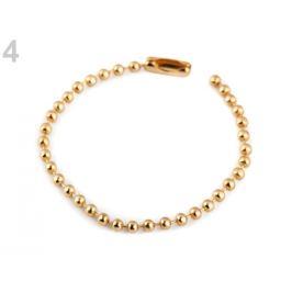 Guličková retiazka 12 cm pútko zlato kovová 10ks Stoklasa