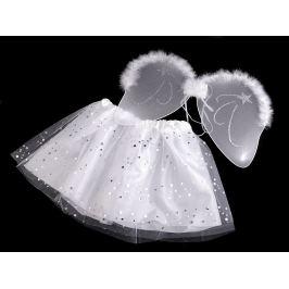 Karnevalový kostým - anjel biela 1sada Stoklasa