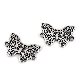 Filigránový našívací motýľ, mandala, srdce, strom života platina 5ks Stoklasa