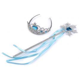 Karnevalová sada / korunka - ľadová kráľovná modrá azurová 1sada Stoklasa