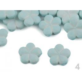 Dekoračný plastový kvet / korálik Ø14 mm modrá nezábudková 50ks Stoklasa