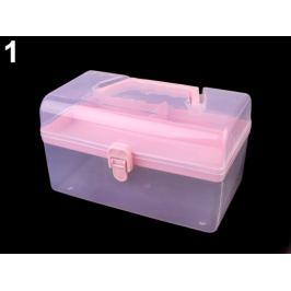 Plastový box / kufrík ružová sv. 1ks Stoklasa