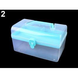 Plastový box / kufrík modrá azurová 1ks Stoklasa