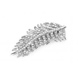 Francúzska spona do vlasov s brúsenými kamienkami crystal 1ks Stoklasa