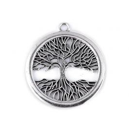 Prívesok strom života Ø41 mm veľký platina 1ks Stoklasa