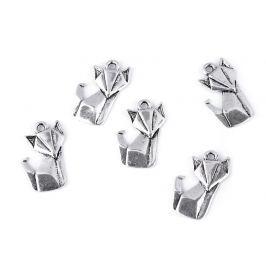 Prívesok origami labuť, líška platina 5ks Stoklasa