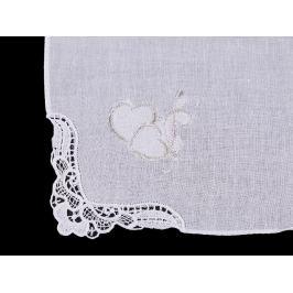 Dámska a pánska vyšívaná vreckovka svadba biela 1ks