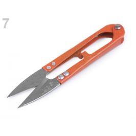 Nožničky cvakačky dĺžka 11 cm celokovové oranžová   1ks Stoklasa