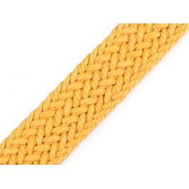Splietaný bavlnený popruh šírka 25 mm horčicová 1m Stoklasa