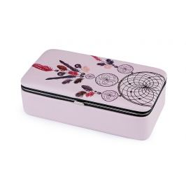 Malá šperkovnica lapač snov 5,5x9,5x18,5 cm pudrová 1ks Stoklasa
