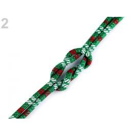 Šnúra guľatá s výplňou a lurexom Ø6 mm zelená pastelová 1m Stoklasa