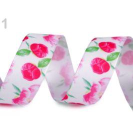 Stuha kvety šírka 25 mm pink 22.5m Stoklasa