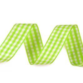 Károvaná stuha šírka 15 mm zelená sv. 3m Stoklasa