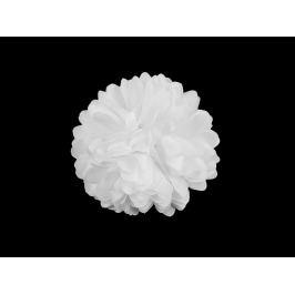 Brošňa / ozdoba kvet Ø7 cm biela 1ks Stoklasa