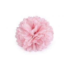 Brošňa / ozdoba kvet Ø7 cm ružová svetlá 1ks Stoklasa