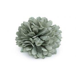 Brošňa / ozdoba kvet Ø7 cm zelenkavá 1ks Stoklasa