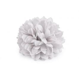 Brošňa / ozdoba kvet Ø7 cm šedá najsv. 1ks Stoklasa