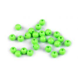 Plastové korálky Color Ø8 mm zelená sv. 25ks Stoklasa