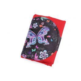 Skladacia nákupná taška mandala, motýľ 39x45 cm červená 1ks Stoklasa
