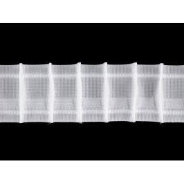 Záclonovka šírka 35 mm tužkové riasenie biela 50m