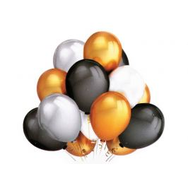 Nafukovacie balóniky metalické sada strieborná 1sada Stoklasa