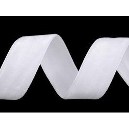 Zamatová stuha šírka 25 mm biela 10m