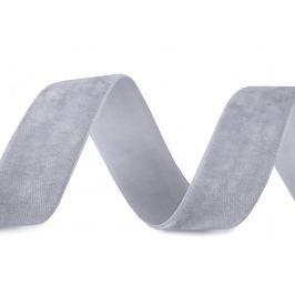 Zamatová stuha šírka 25 mm šedá najsv. 10m