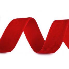 Zamatová stuha šírka 25 mm červená 10m