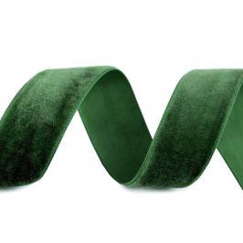 Zamatová stuha šírka 25 mm zelená 10m