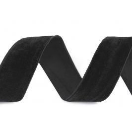 Zamatová stuha šírka 25 mm čierna 10m