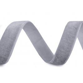 Zamatová stuha šírka 15 mm šedá najsv. 10m