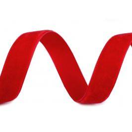 Zamatová stuha šírka 15 mm červená 10m