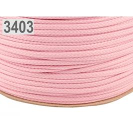 Odevná šnúra PES Ø4 mm ružová sv. 100m