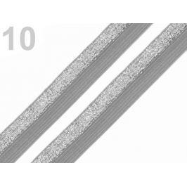 Lemovacia guma šírka 17 mm s lurexom šedá 30m Stoklasa