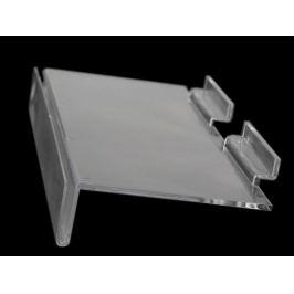 Plastová polička 11,5x25 cm Transparent 1ks Stoklasa
