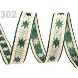 Vianočná stuha s drôtom šírka 15 mm Alpine Green 25m