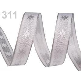 Vianočná stuha s drôtom šírka 15 mm Gray Violet 25m