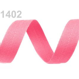 Keprovka - tkaloun šírka 20 mm ružová sv. 50m