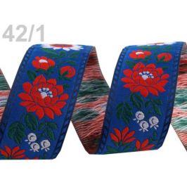 Vzorovka šírka 35mm krojová  polyesterová modrá 25m