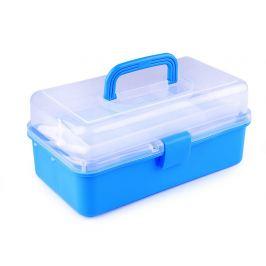 Plastový box / kufrík 20x33x15 cm rozkladací modrá 1ks Stoklasa