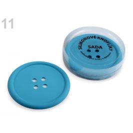 Silikónové gombíky sada 4 ks Ø9 cm modrá 1sada Stoklasa